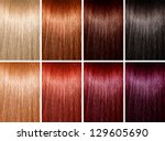example of different hair colors | Shutterstock . vector #129605690