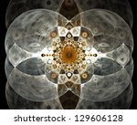 Abstract Fractal Background On...