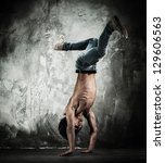 young b boy man with naked... | Shutterstock . vector #129606563