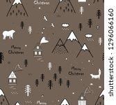 cute seamless scandinavian...   Shutterstock .eps vector #1296066160