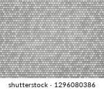 silver metal hexagon texture | Shutterstock .eps vector #1296080386