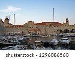 views of drubrovnik old town... | Shutterstock . vector #1296086560