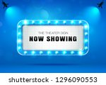 theater sign on curtain   Shutterstock .eps vector #1296090553