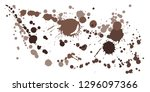 watercolor paint stains grunge... | Shutterstock .eps vector #1296097366