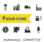 service icons set with bolt ...
