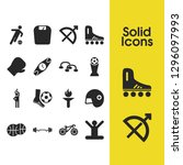activity icons set with boxing...
