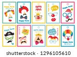 purim tags set  can be used for ... | Shutterstock .eps vector #1296105610