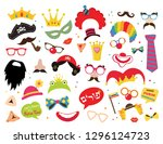 design for jewish holiday purim ... | Shutterstock .eps vector #1296124723