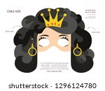 purim story characters masks... | Shutterstock .eps vector #1296124780