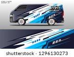 car decal sticker wrap design... | Shutterstock .eps vector #1296130273