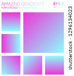 colorful gradients in hot... | Shutterstock .eps vector #1296134023