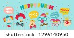 purim banner template design ... | Shutterstock .eps vector #1296140950
