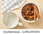 spice for tea and coffee with... | Shutterstock . vector #1296159250