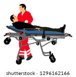 first aid training  help after... | Shutterstock .eps vector #1296162166