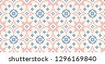 cross stitch jacquard sakura... | Shutterstock .eps vector #1296169840