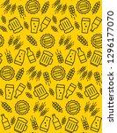 beer seamless pattern. vector... | Shutterstock .eps vector #1296177070