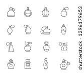 set of perfume related vector... | Shutterstock .eps vector #1296179653