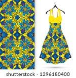 vector fashion illustration.... | Shutterstock .eps vector #1296180400