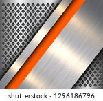 metallic background silver... | Shutterstock .eps vector #1296186796