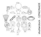 vitality icons set. outline set ... | Shutterstock . vector #1296196633