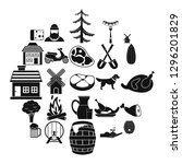 storehouse icons set. simple... | Shutterstock . vector #1296201829
