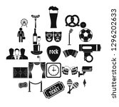 occasion icons set. simple set... | Shutterstock . vector #1296202633