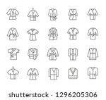 set of bathrobe related vector... | Shutterstock .eps vector #1296205306
