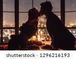 Loving Couple Kissing On...