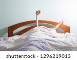 morning coffee in bed | Shutterstock . vector #1296219013