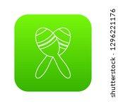 mexican maracas icon green... | Shutterstock . vector #1296221176