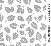 monochrom foliage pattern.... | Shutterstock .eps vector #1296227593