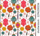 chinese new year  pattern... | Shutterstock .eps vector #1296230236
