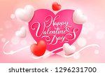 happy valentine's day. vector... | Shutterstock .eps vector #1296231700