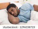 depression. sad african... | Shutterstock . vector #1296238723