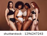group of different size women... | Shutterstock . vector #1296247243