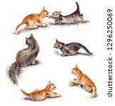 watercolor painting.  hand...   Shutterstock . vector #1296250069