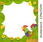 the happy easter frame  ... | Shutterstock . vector #129625244