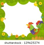 the happy easter frame  ... | Shutterstock . vector #129625274