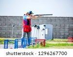 shooting sports. team workouts  ... | Shutterstock . vector #1296267700