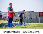 shooting sports. team workouts  ... | Shutterstock . vector #1296269296