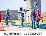 shooting sports. team workouts  ... | Shutterstock . vector #1296269299