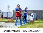 shooting sports. team workouts  ... | Shutterstock . vector #1296269320