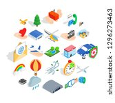 light aviation icons set.... | Shutterstock . vector #1296273463