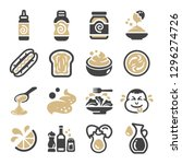 mayonnaise icon set vector and... | Shutterstock .eps vector #1296274726