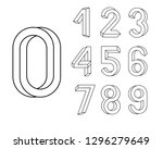 impossible shape font. memphis... | Shutterstock .eps vector #1296279649