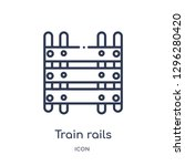 linear train rails icon from... | Shutterstock .eps vector #1296280420