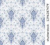 vector damask seamless pattern... | Shutterstock .eps vector #1296287479