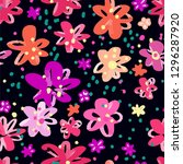 colourful flowers seamless... | Shutterstock .eps vector #1296287920