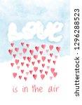saint valentines day card  love ...   Shutterstock . vector #1296288523