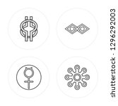 4 line wisdom  mercury  justice ... | Shutterstock .eps vector #1296292003